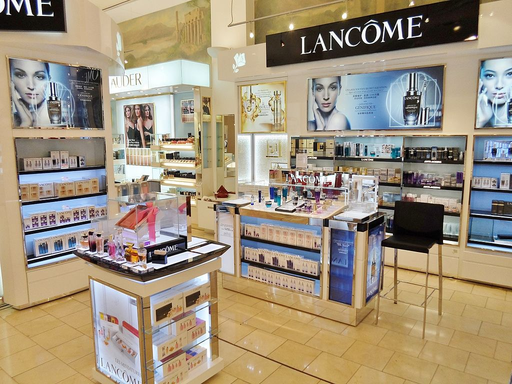 the cosmetics and perfume counter for Lancome, at DFS Galleria Customhouse in Auckland, New Zealand
