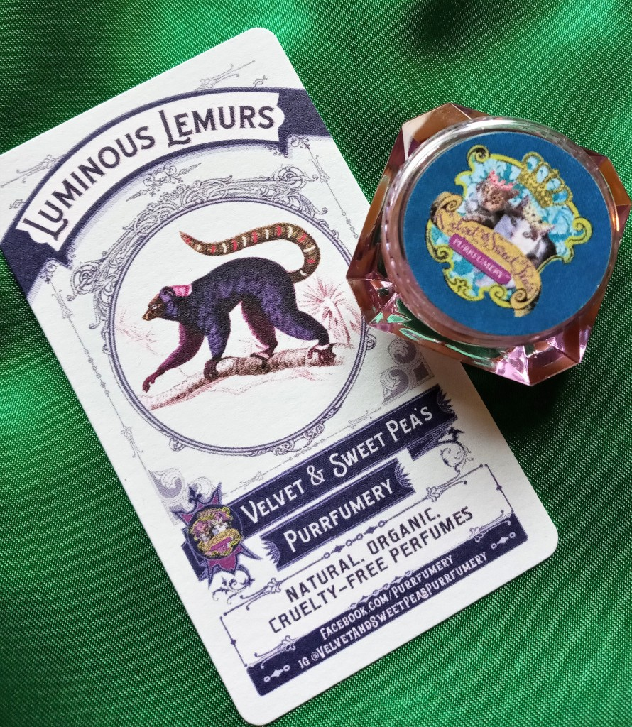 Luminous Lemurs perfume and information card