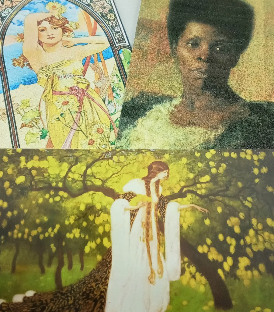 The product cards for Daisy, Neroli and Lemon Tree, featuring artwork of a diverse array of women